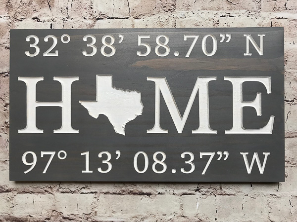 Home Latitude Longitude Sign