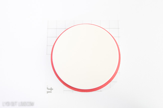 position design on ceramic coaster blank