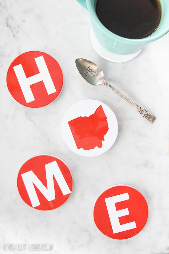 DIY OHIO Home Ceramic Coasters