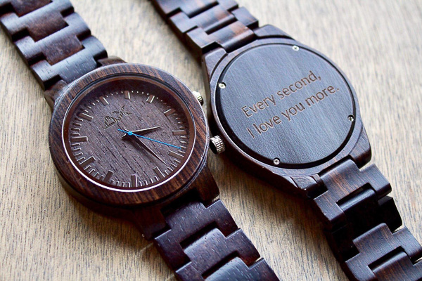 custom engraved wood watch