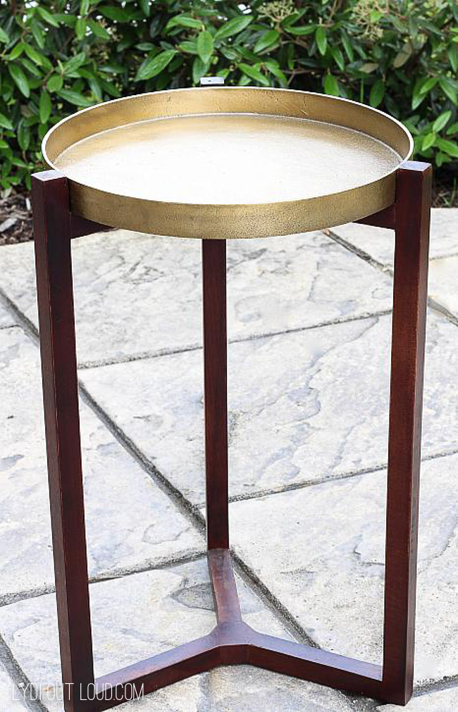DIY Outdoor End Table Before