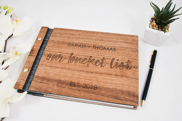 Our Bucket List 5 year anniversary gift idea