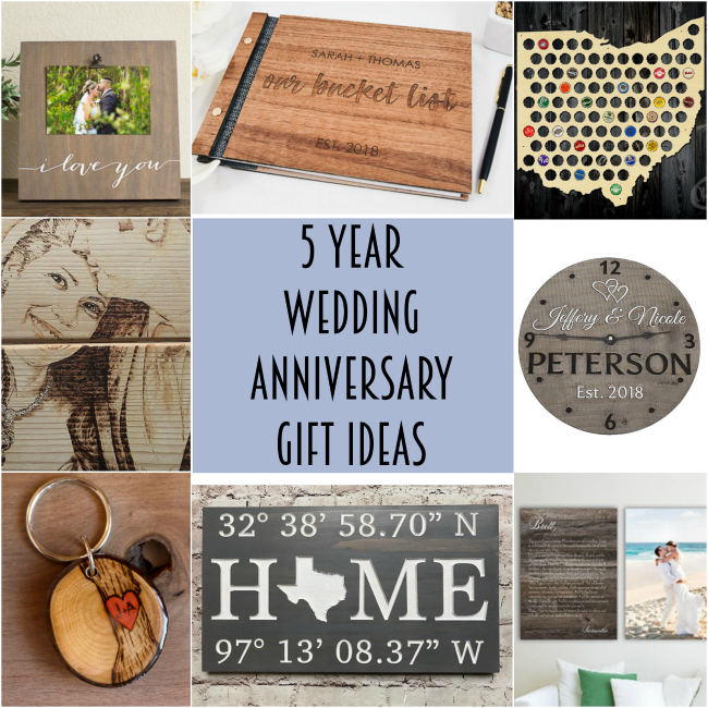 5 year wedding anniversary gifts inspiration
