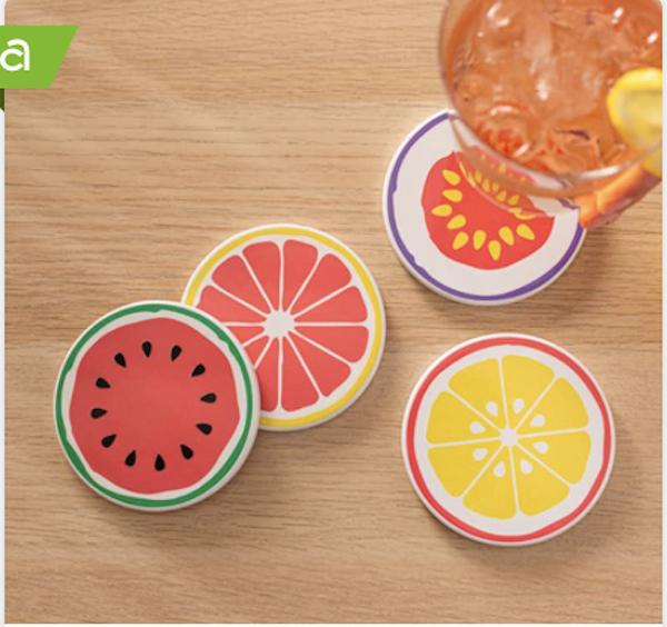 DIY Fruit Slice Coasters