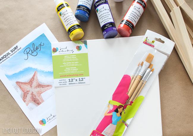 beach painting supplies