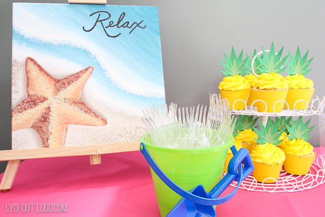 beach themed party decor
