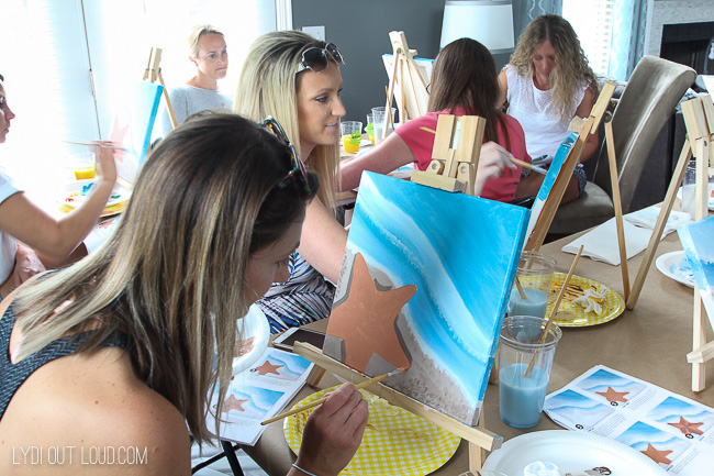 host a painting party at home