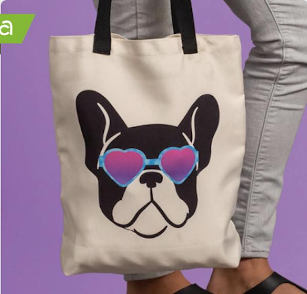 DIY Boston Terrier Tote Bag