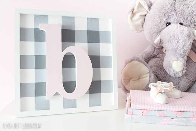 Girls nursery name sign