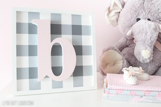 Girls nursery name sign