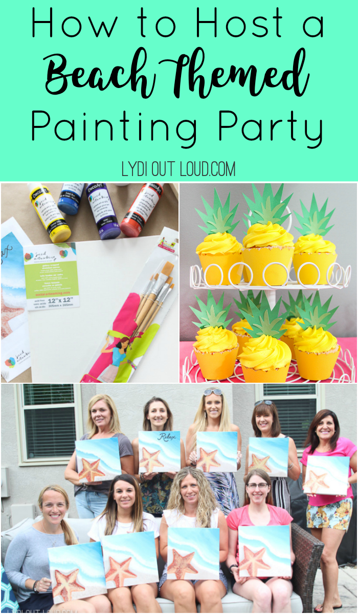 Step by step guide to host your own paint party at home! via @lydioutloud