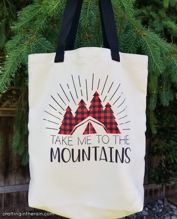 Take Me to the Mountains Cricut Infusible Ink Tote Bag