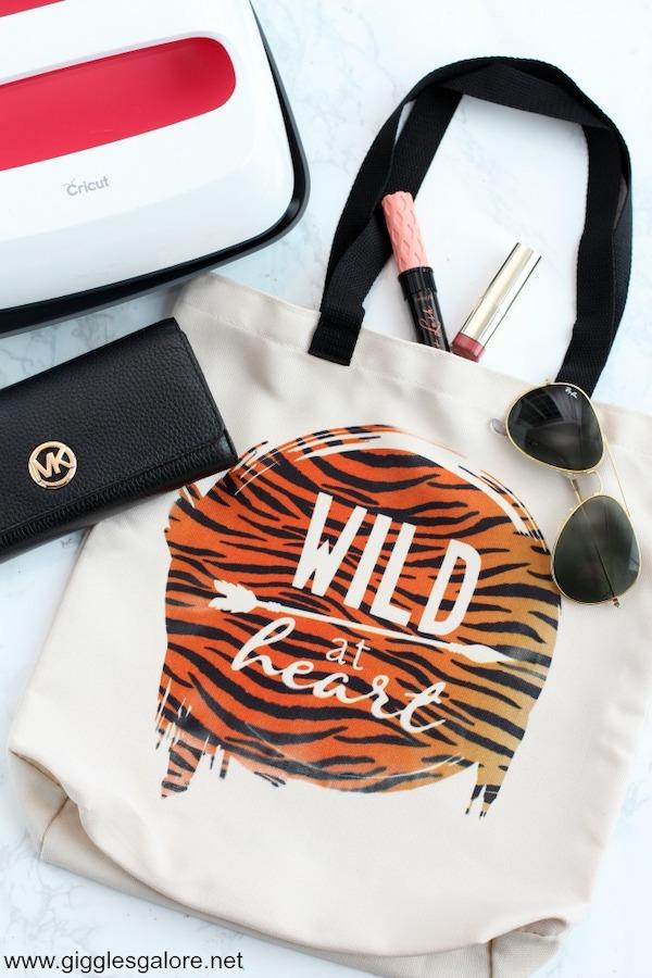 "DIY ""Wild at Heart"" Tote Bag"