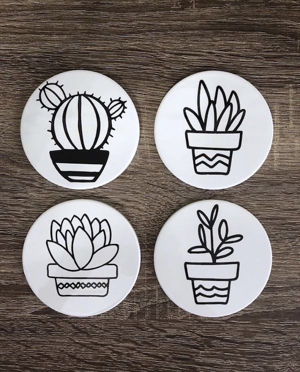 Succulent and Cactus Infusible Ink Coaster project
