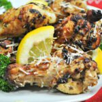 Lemon Parmesan Air Fryer Chicken Wings
