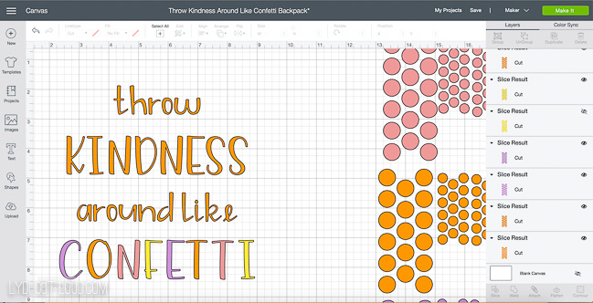 Throw Kindness Around Like Confetti cut file for Cricut