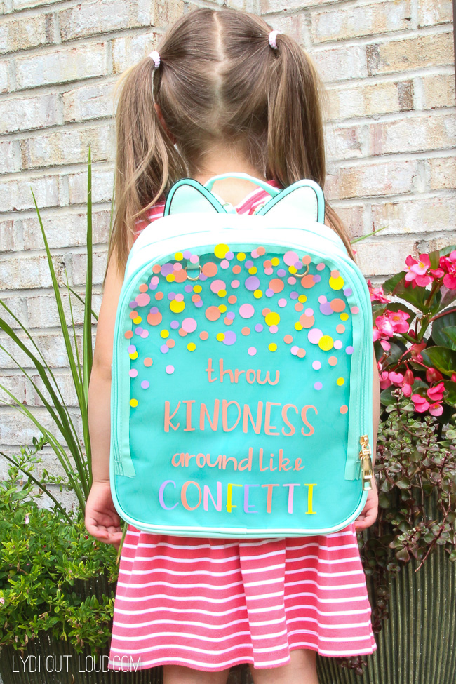 Customized Backpack with Cricut