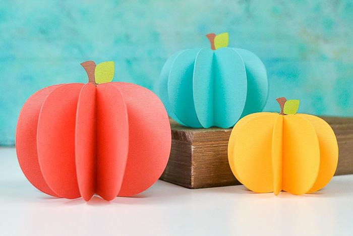 3D Paper Pumpkins with Cricut - Hey Let's Make Stuff
