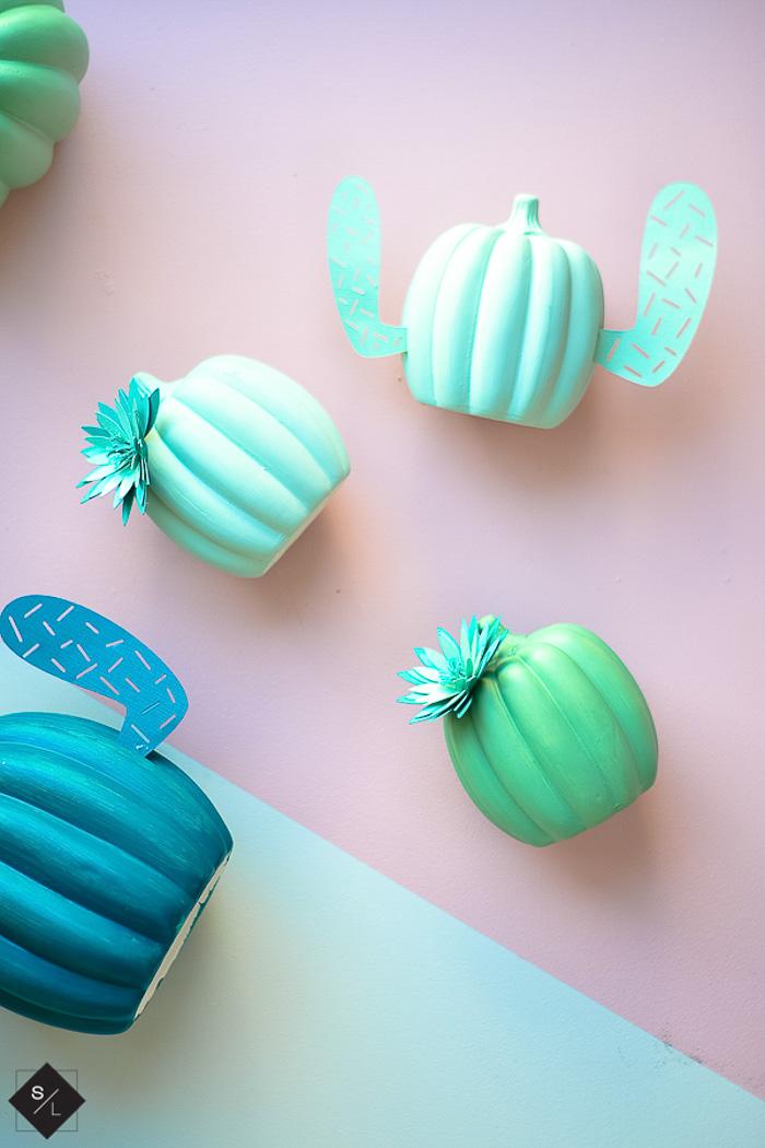 Cactus pumpkins - See Lindsay