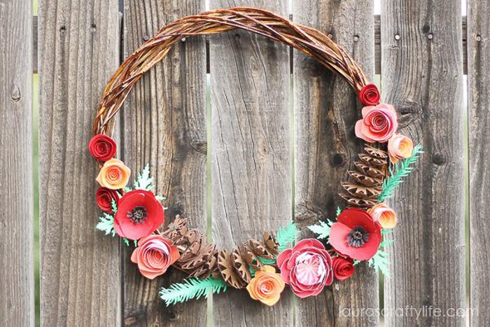 Woodland Fall Paper Wreath - Laura's Crafty Life