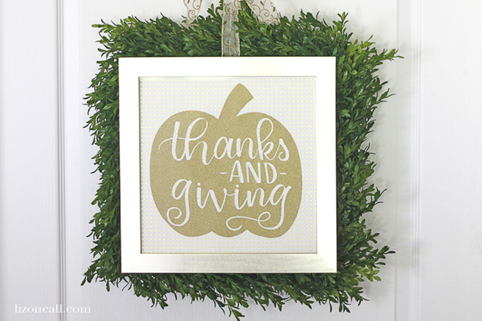 Thanks and Giving Pumpkin Cut File - Liz on Call