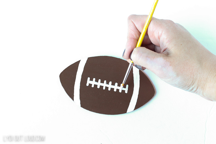 Unfinished wood football cutout