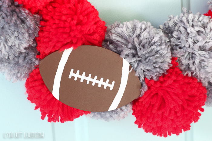 DIY Football Wreath