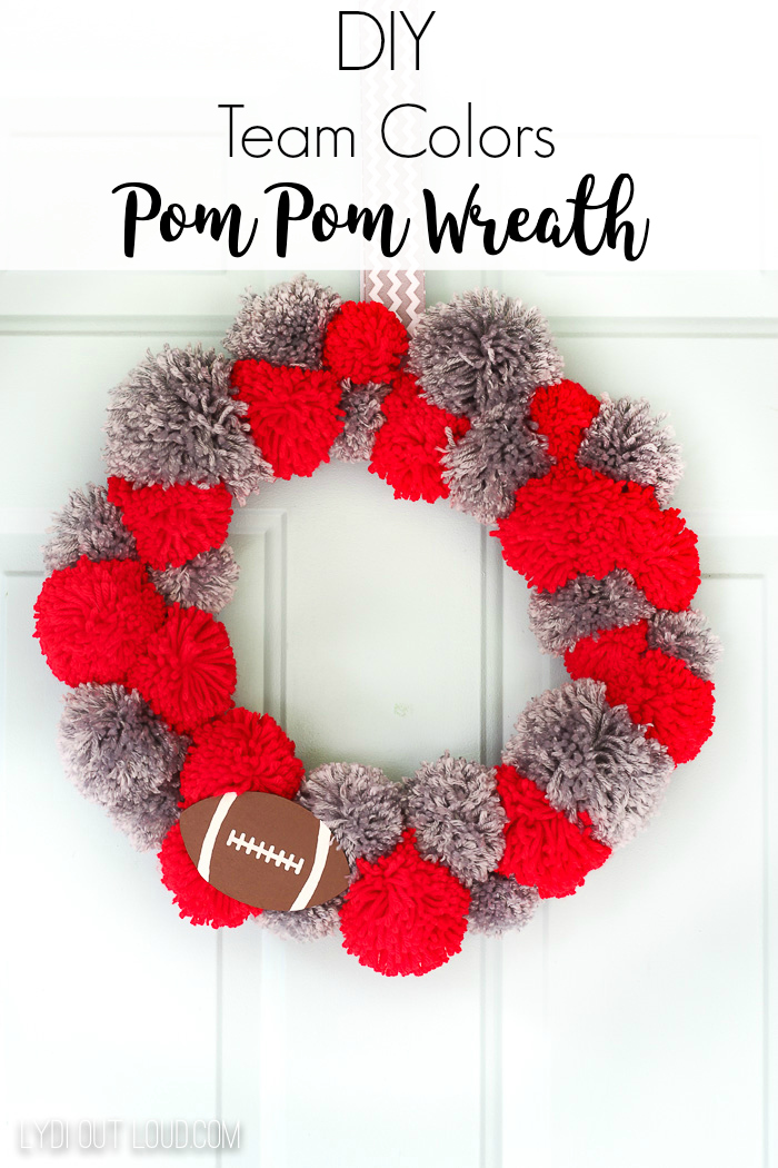 Team Colors Pom Pom Wreath