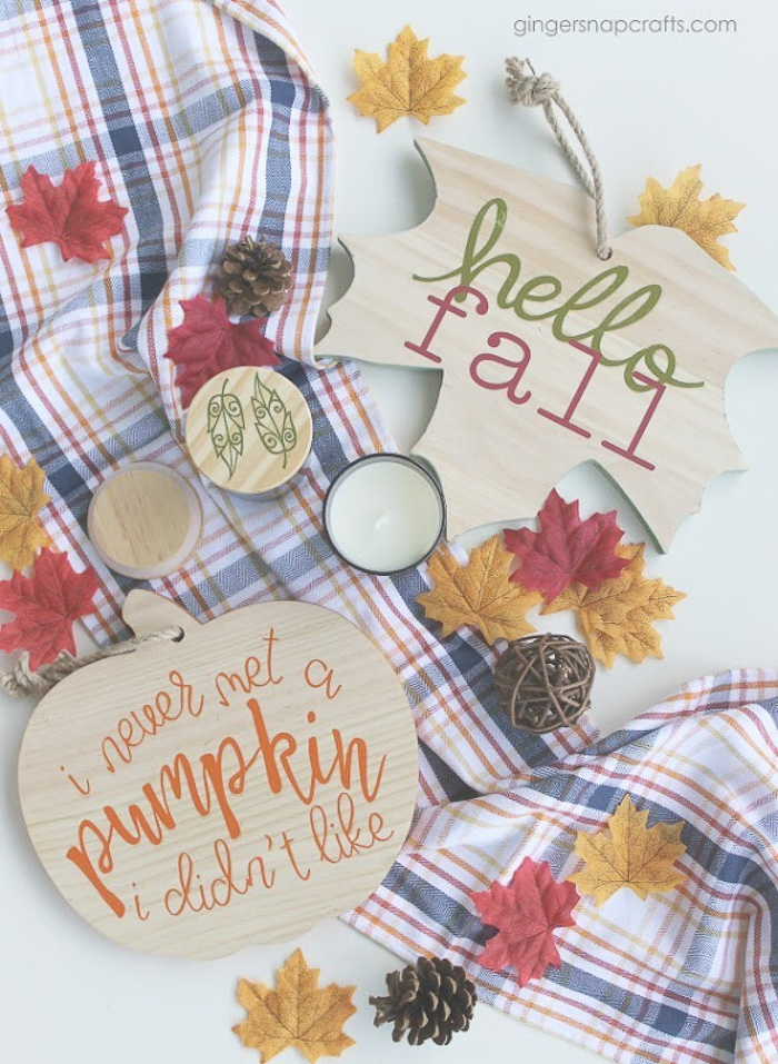Easy Fall Craft Ideas with Cricut
