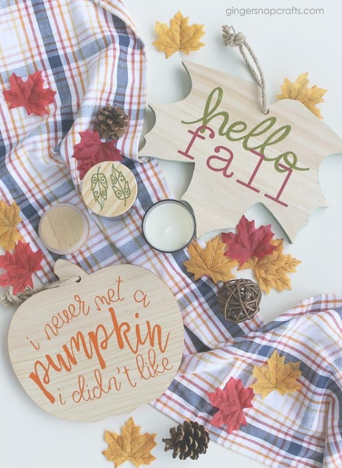 Easy Fall Craft Ideas with Cricut