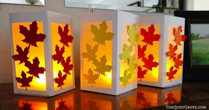 Fall Leaf Paper Lanterns