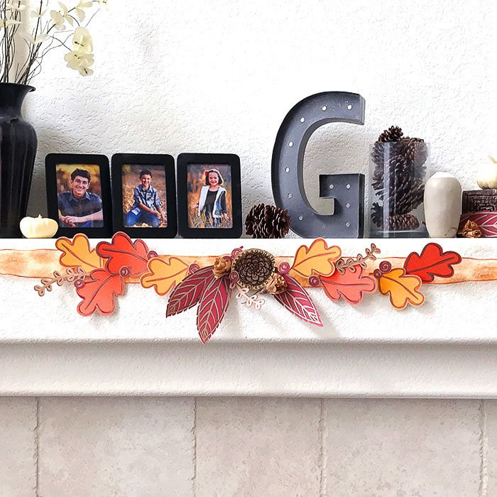 Fall Decor Ideas with Cricut Fall Mantel - 100 Directions