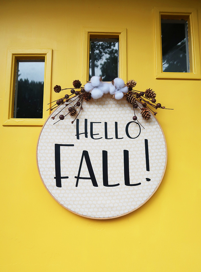 Hello Fall Hoop Wreath - Weekend Craft