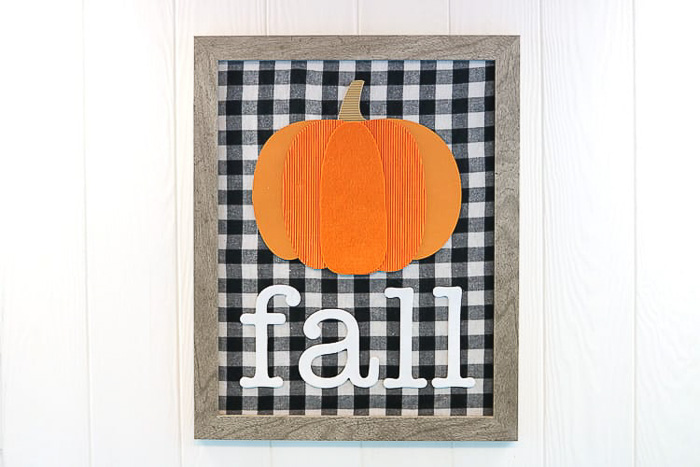 Mixed Media Fall Pumpkin Sign