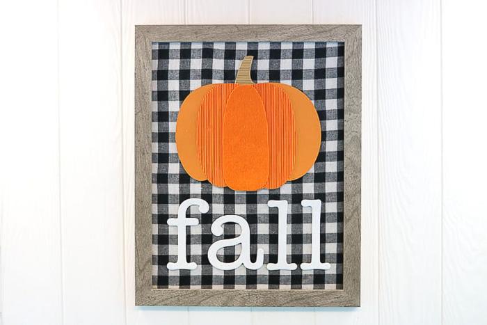 Mixed Media Fall Pumpkin Sign