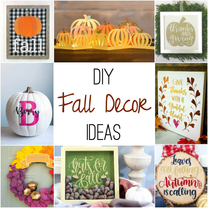 Fall decor ideas with Cricut