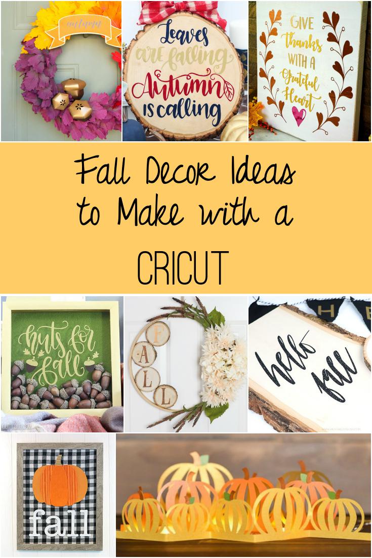 Fall Decor Ideas to Make with a Cricut