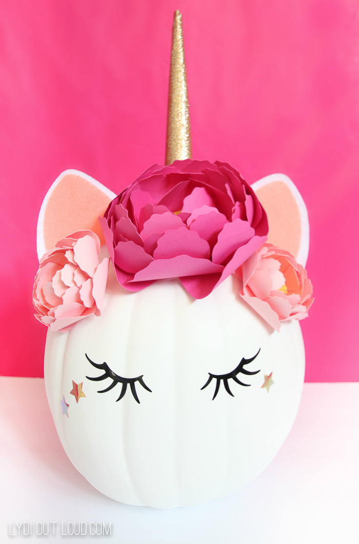 Unicorn Pumpkin made with a Cricut
