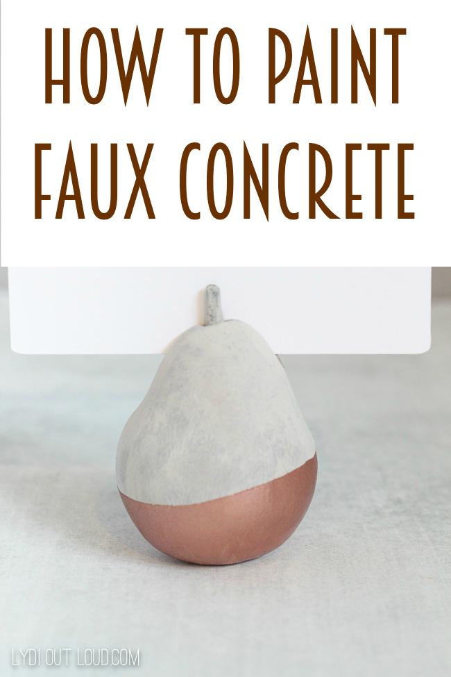 How to paint faux concrete via @lydioutloud