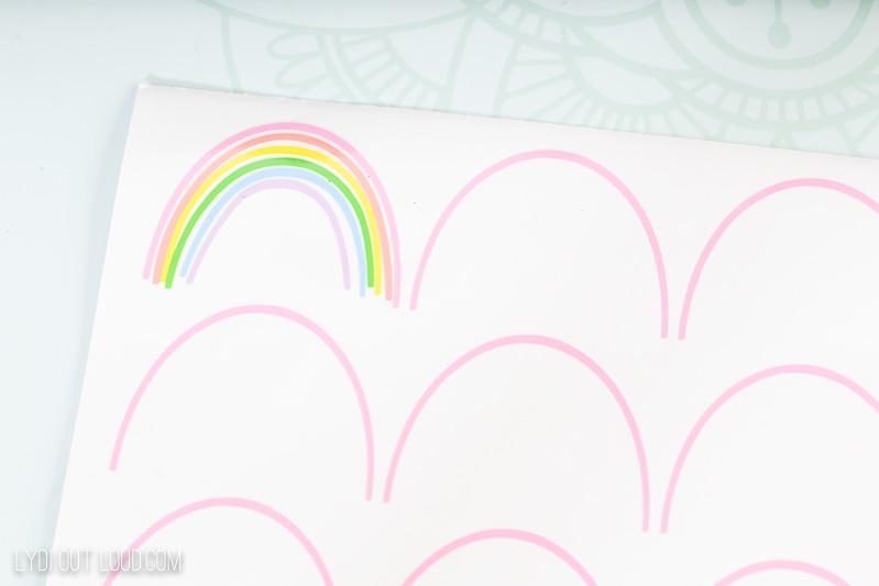 Rainbow vinyl pumpkin decals
