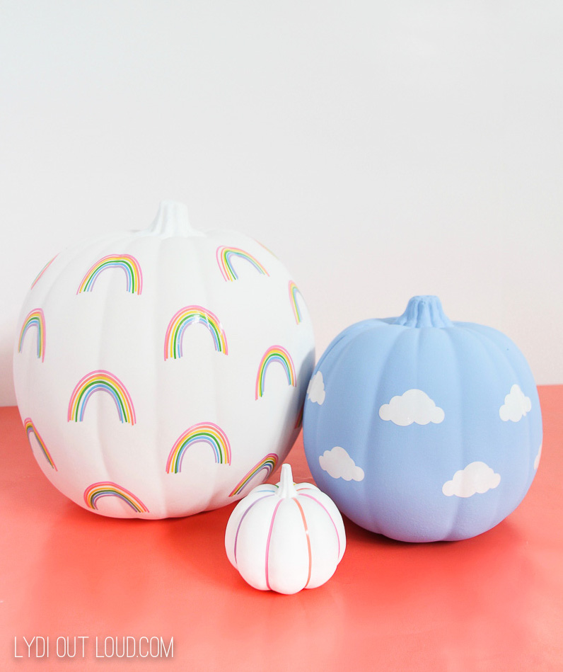 Vinyl pumpkin decals