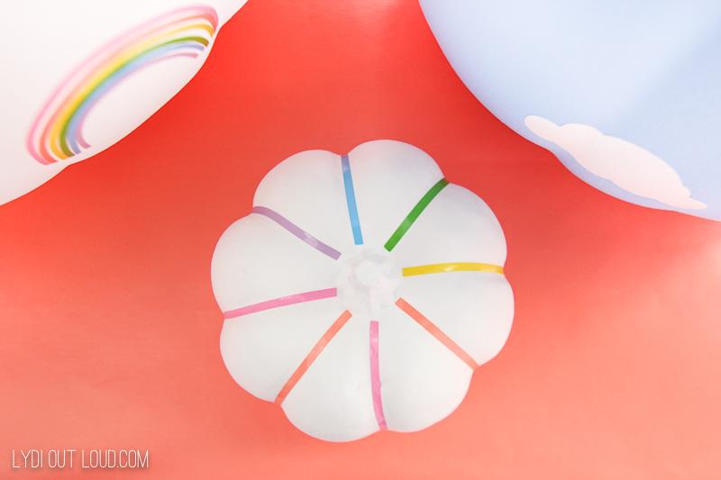 Mini rainbow pumpkin