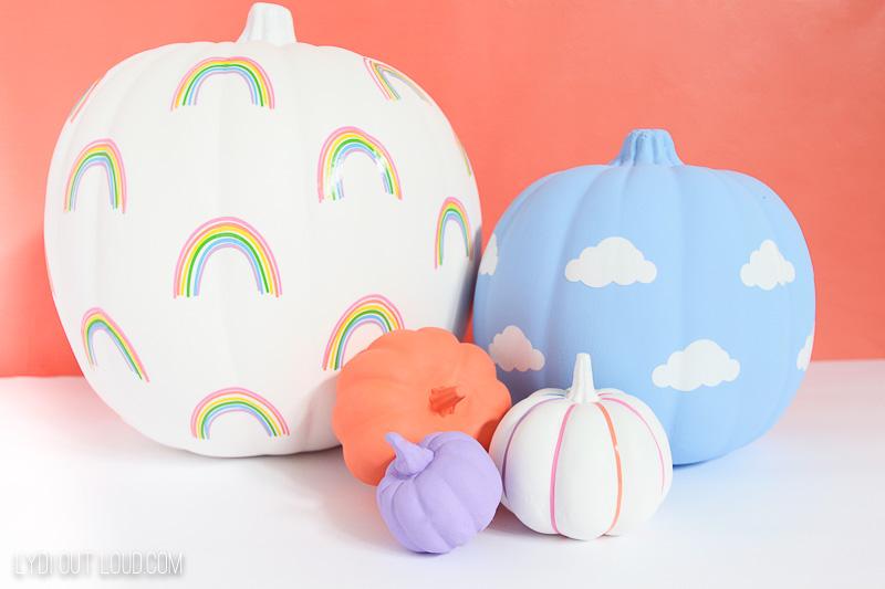 Rainbow and Cloud Pumpkin decals