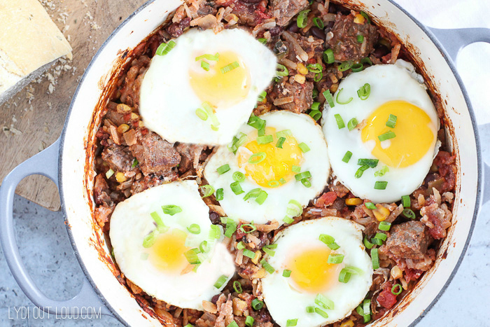 Southwest Style Steak and Eggs Bake