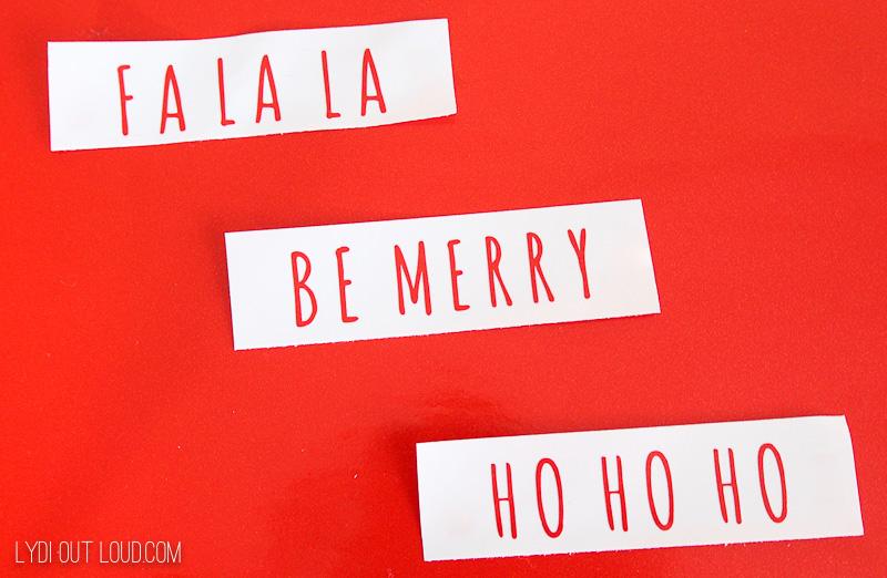 Cricut Christmas phrases cut file
