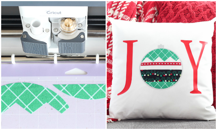 No-sew Christmas pillow with the Cricut Maker