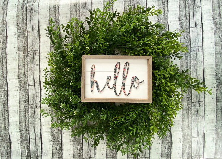 DIY Shiplap wreath sign