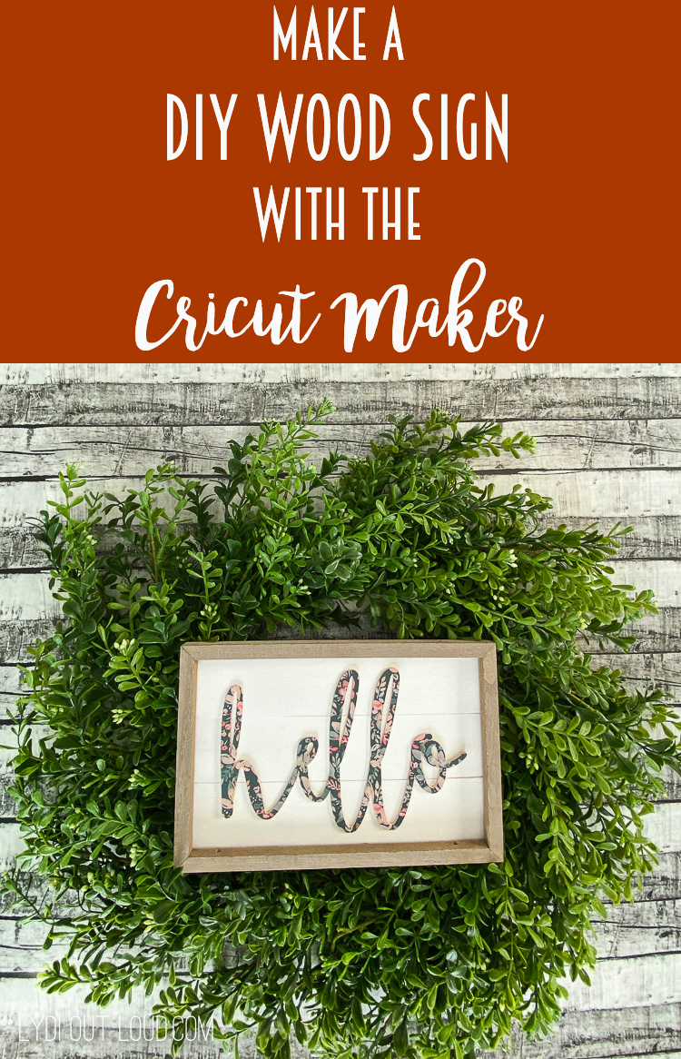 Make a DIY wood sign and so many other projects with a Cricut Maker! via @lydioutloud