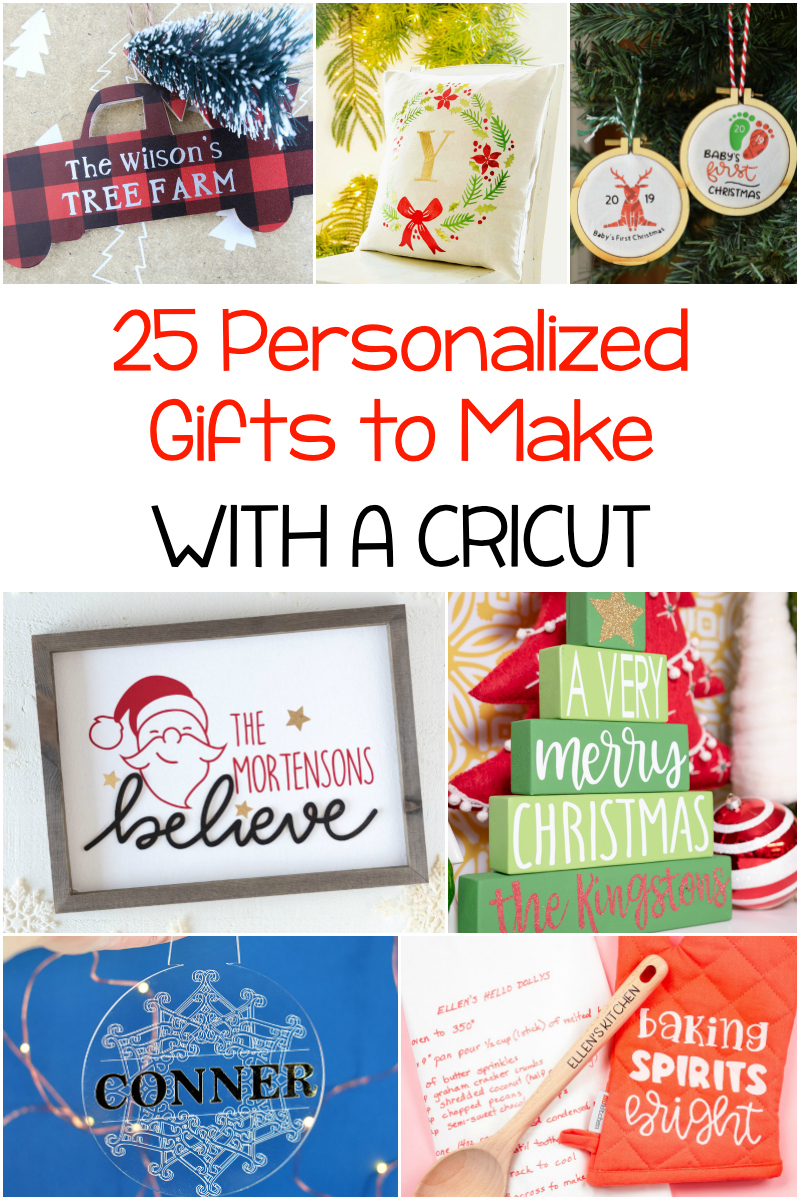 25 personalized gifts to make with a Cricut via @lydioutloud