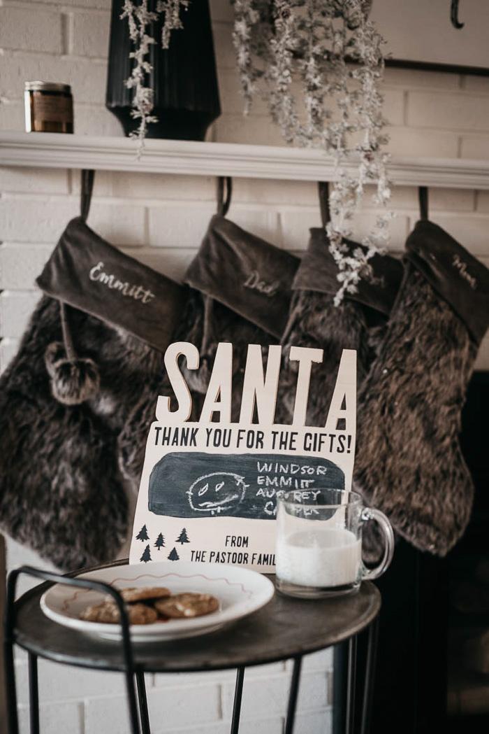 Christmas Santa Sign